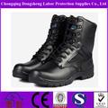 botas militares de cuero negro