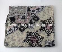 Wlhh- 28 100% cosecha de poliéster de paisley de impresión de tela de primavera bufanda chal