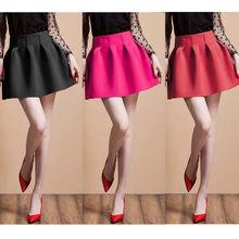Falda rosa de cintura alta