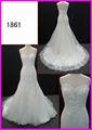 fuera del hombro caliente de la venta una línea de lujo sin mangas vestido de novia vestido de novia