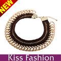 fabricante de los accesorios del traje moda mujer china vendedora caliente falso collar de la joyería del collar
