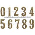 número de porta de bronze