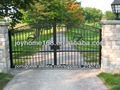 Portões de ferro forjado/venda quente portões de entrada/portão de ferro simples desenhos
