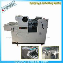 Numeración y perforación de la máquina