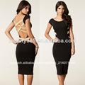 Las nuevas mujeres de la manera europea longitud de la rodilla atractiva celebridad barato bodycon venda al por mayor el vestido