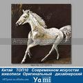 Mão pintado realista cavalo pintura a óleo sobre tela