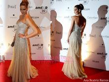 Nuevo vestido de noche de la llegada 2014 sin tirantes brillantes para mujer vestido de fiesta largo por encargo bo3570