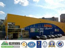 comercial de la construcción de prefabricados de acero de la estructura de los centros de compras