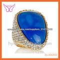 Anillos de piedras preciosas naturales, China, Alibaba, India Piedra preciosa topacio azul Anillo de la joyería, Nuevos Producto