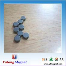 Ronda de plástico negro imán, plana y redonda de imanes