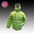 2013 hombres con estilo de caparazón blando fluorescente verde de invierno hooddie abajo chaqueta( 822102wade)
