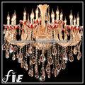 cabezas 18 elegancia de iluminación de la lámpara de cristal
