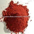 polvo de color rojo óxido de hierro Fe2O3