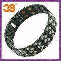 Double Bio anions balance bracelet en titane négatif