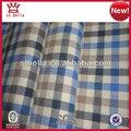 2014 modelos primavera fios de algodão tingidos mini-cheque/tecido xadrez de flanela personalizada para camisas de tecido