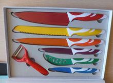 juego de cuchillos de acero de alta calidad