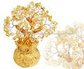 Cristal de color púrpura de árbol, de cristal de oro del árbol de dinero, la suerte del árbol de dinero