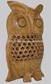 rajasthani tradicional artesanía decorativa de la vendimia de la mano de madera tallada búho