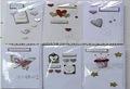 La costumbre de flores de papel de san valentín día/boda tarjetas de felicitación, tarjeta de regalo/pequeña