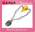 Asian joyería hecha a mano de la antigüedad del collar de piedras preciosas