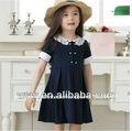 Venda quente vestidos de verão duplo- algodão peito roupas infantis por atacado china princesa menina vestido primeira comunhão