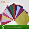 raw material de papel de seda de seda de colores de papel