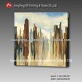 decoración abstracta moderna la construcción de la ciudad de pintura sobre lienzo