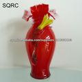 florero de cristal rojo soplado al por mayor para el deco casero