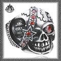 moda estilo de acero inoxidable stjz146 cráneo diseño es único