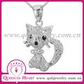 gato dije con circones de 925 plata joyeria jewelry
