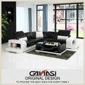 Estilo americano sofá con otomana movible, americano sofá conjuntos