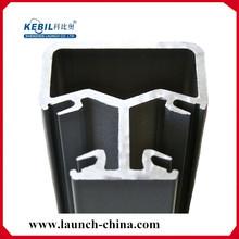 Semi-barandilla de vidrio sin marco tija de aluminio redondo