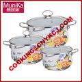 Trionfo cookware del hierro fundido/de acero al carbono de acero esmaltada ollas cazuela