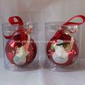 boules sorties d'usine gracieux artisanat de Noël en verre