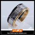 De oro ip negro& la última diseños del anillo