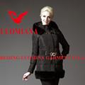 el último 2014 real de piel de alta calidad brillante de modelo de chaqueta de las mujeres