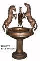 estatuas de caballos de bronce