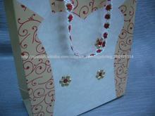 de la boda de alta calidad en forma de corazón bolsa de papel