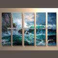 moderna popular decorativas hechas a mano del arte de la pintura de la pared de diseño