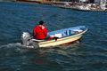 Panga barco de pesca de 14 pies de fibra de vidrio material de Embarcación de recreo