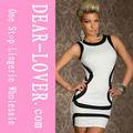 2013 nueva llegada de moda las mujeres vestido del club blanco