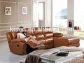 Muebles reclinable l- sofá en forma de ashley sofá de cuero km6005l