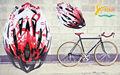 El sol rj-a003 casco de bicicleta, bicicleta casco y visera, casco de bicicleta espejo, casco de bicicleta bolsas
