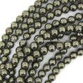 10mmm ronda llanura piedras preciosas perlas sueltas de joyería de pirita