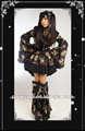 Rave punk gótico estilo quimono japonês vestido q-114
