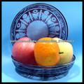 prato de frutas plana de Vidro Cristal em cor marrom
