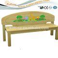 natural de banco de madeira para crianças