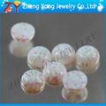 cabujón de forma redonda de fuego opal cuentas