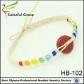 2014 nuevo producto de la venta caliente de jade colgantes encanto joyas pulsera de colores con cuentas de acrílico