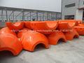 Plástico MDPE Flotadores En dragado Pipeline